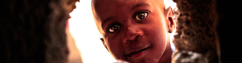 Curious Haitian Boy