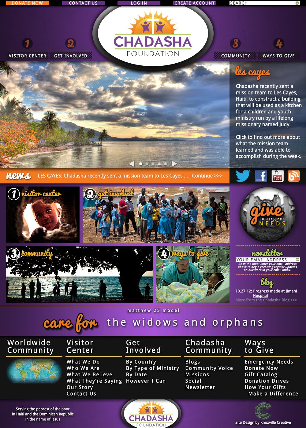 Chadasha Website Homepage Design