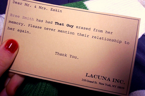 Eternal Sunshine of the Spotless Mind - Lacuna Card