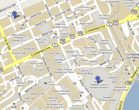 Map of UT campus
