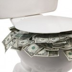 Flushing money down the small business toilet